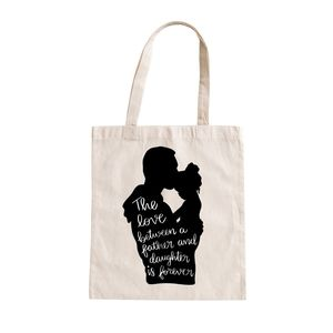 Tote bag with quote for fathers day | birthday gift